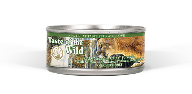 Rocky Mountain Feline® Formula with Salmon & Roasted Venison in Gravy